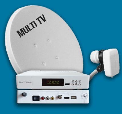 multitv satellite dish and decoder