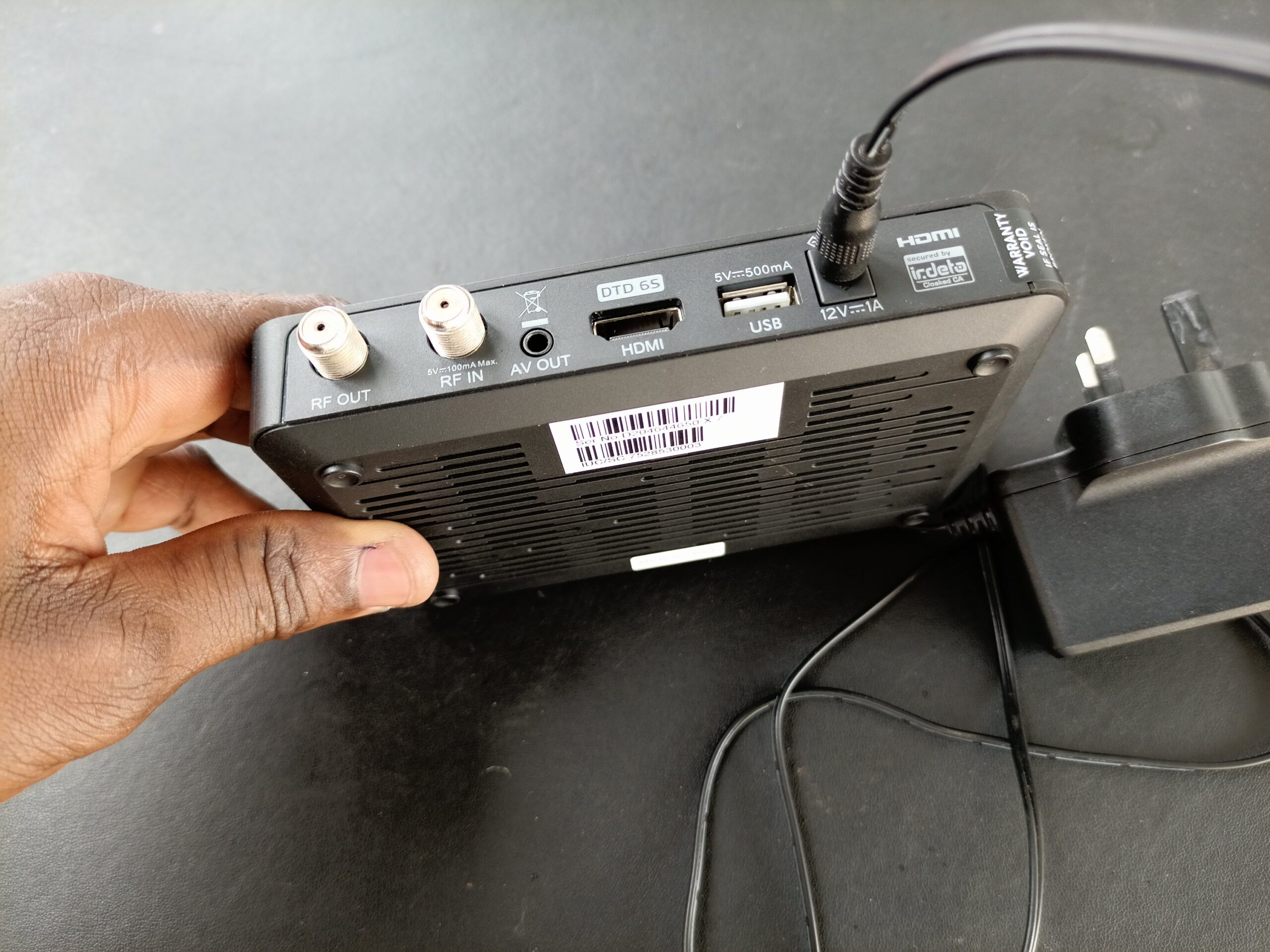 Power cable to Gotv decoder Connection