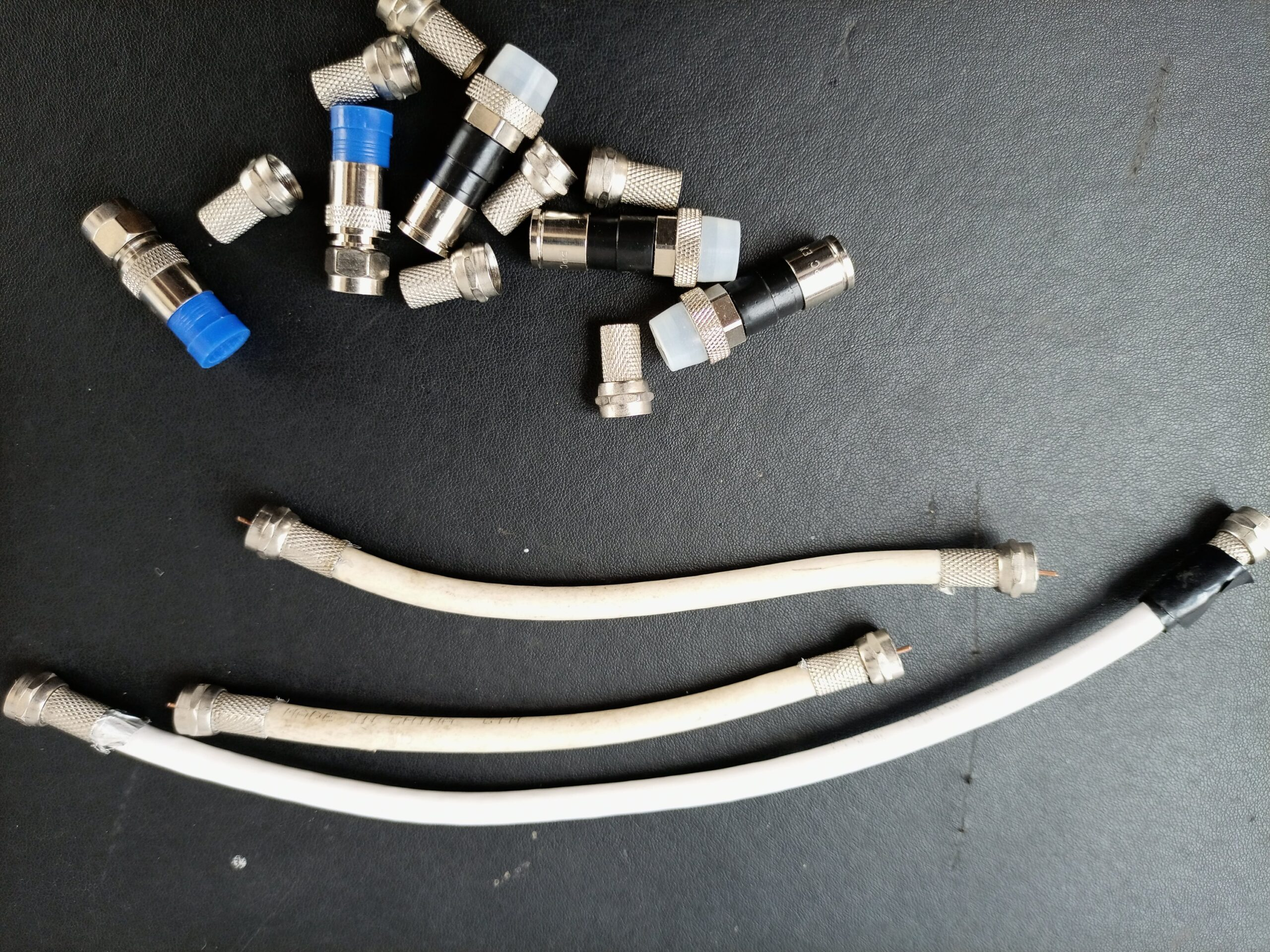 F-connectors and coaxial cable