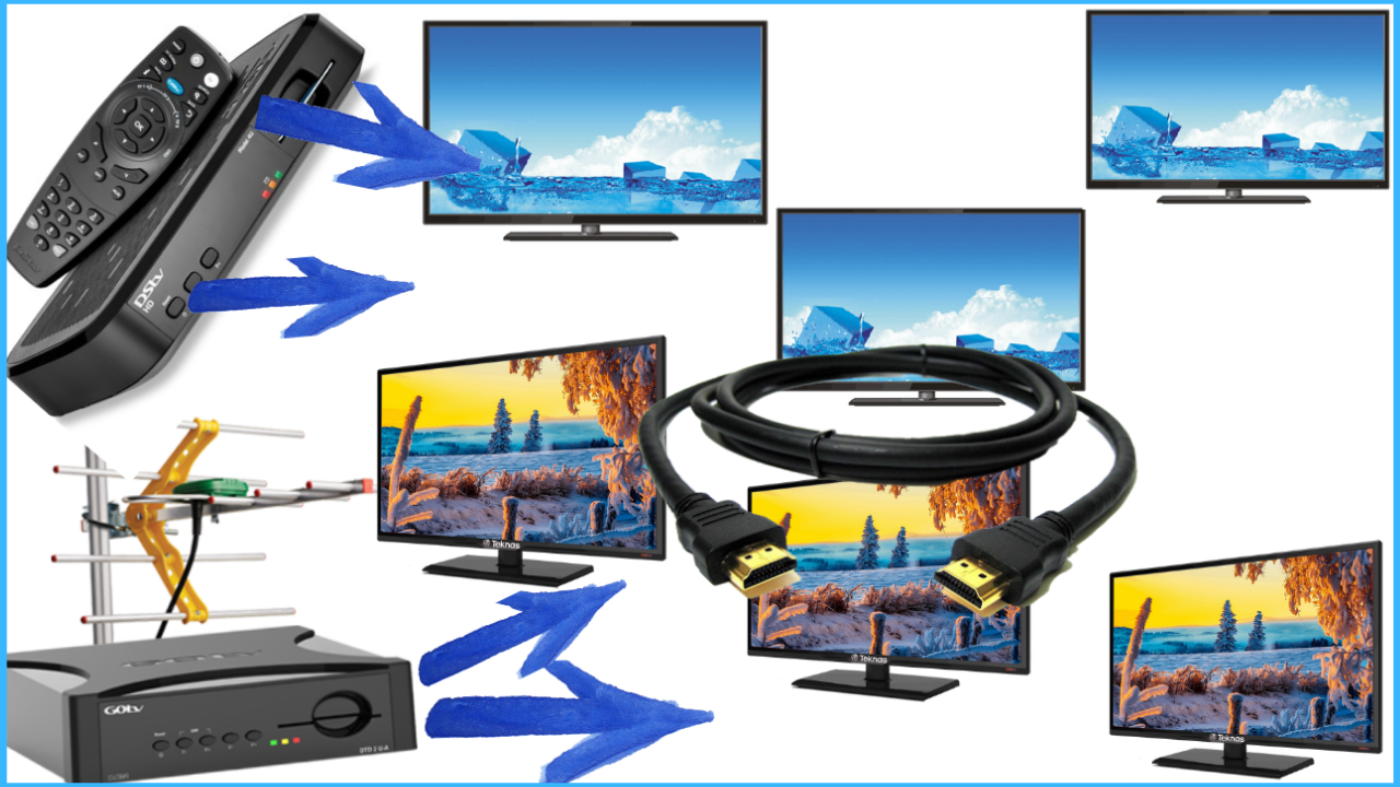 How To Connect Gotv (Dstv) To Two TVs