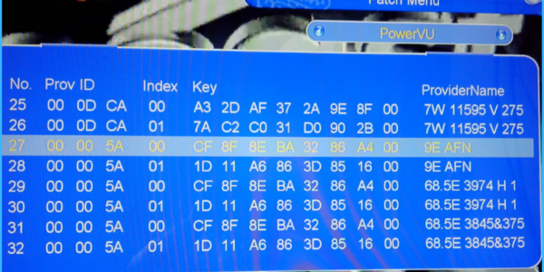 How To Add Biss Keys On Master Combo Decoder